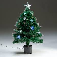 Fibre Optic Christmas Trees Uk by Fibre Optic Led Star Artificial Christmas Tree 80cm Notcutts