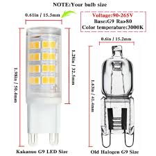 g9 led bulb ac 90v 265v 3w equivalent 30w g9 halogen l warm