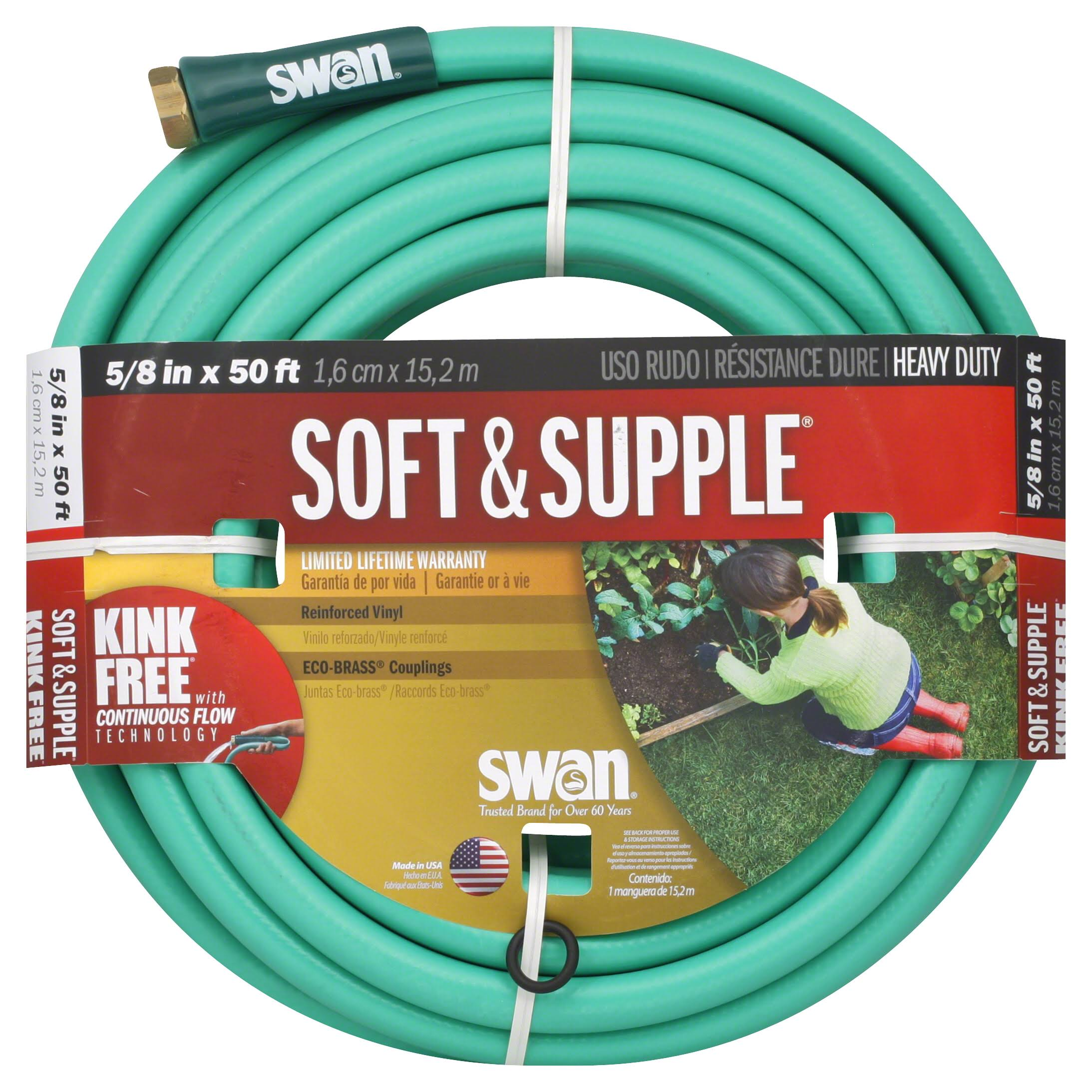 Colorite-Swan Soft & Supple Garden Hose - 1.6cm x 15.2m