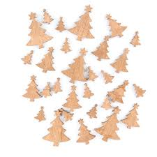 Golden Wood Christmas Tree Cutouts