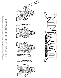 Ninjago Zane Cole Kai Jay KX Ninjas Coloring Page