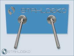 handtuchstange aus edelstahl v2a sockel 10 für badezimmer und badeinrichtung