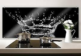 k l wall herd spritzschutz glasbild küche panorama wanddeko küchenrückwand 100x40 cm mit klemmbefestigung edelstahl