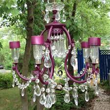 diy solar powered repurposed chandelier how for an