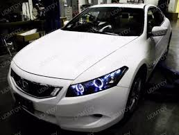 08 12 honda accord coupe black halo projector headlight