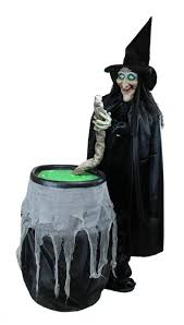 Motion Activated Halloween Decorations by 5 5 U0027 Touch Activated Lighted Witch And Cauldron Animated Halloween