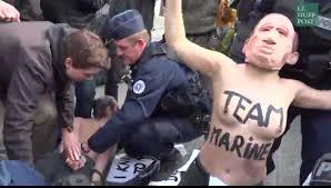 au bureau henin beaumont vidéo des militantes femen interpellées près du bureau de