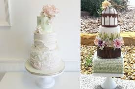 Birch Effect Wedding Cake By Jenna Rae Cakes Left Woodgrain CJs Sweet