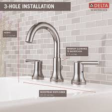 Delta Trinsic Bathroom Faucet by Delta Faucet 3559 Mpu Dst Trinsic Polished Chrome Two Handle