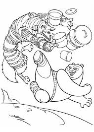 Kung Fu Panda Po Amazing Kick In Coloring Page