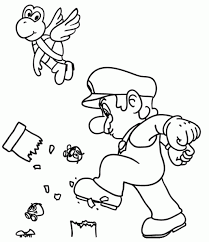 Super Mario Coloring Pages For Kids