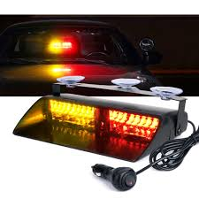 16 LED Red Amber Strobe Lights For Dash / Windshield With Suction ... 4led Light Bar Beacon Vehicle Grill Strobe Emergency Warning Flash Umbrella Inspirational High Power 1224v 20led Super Bright Caution Hazard Safety Bars 55 Inch 1 4m 104 Led Castaleca Car Truck Trailer Side Marker Strobe Lights Amber 12 Led Kacowpper 6 Nwhosale New 2 X 48 96led Flashing Lights Buyers 8892000 Set Of 5 9 Marker With