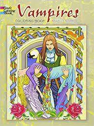 Vampires Coloring Book Dover Books Marty Noble 0800759478484 Amazon