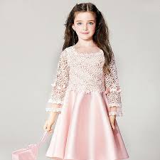 2018 2016 Sprring New Fashion Dress Lace Flower Party Kids Girl Pirncess Big Clothing 8 Sizes Ys3921 From Rita China 17588