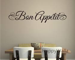 Diy Dining Room Decor For Quote Sticker DIY Bon Appetite Kitchen