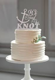 Amazon Buythrow Beach Wedding Anchor Cake Topper Tied The Knot Quote For Nautical Theme Kitchen Dining