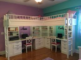 With Desks Loft Bed Desk And Couch Two Twin Size Mattress Bookshelves Plenty Of Drawers Custom Zebrawood Cutting Board Far Kids Bedroom Design