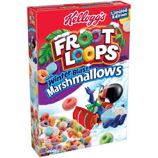 Kelloggs Froot Loops Marshmallow Blasted Cereal 126oz