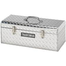 Tradesman® Hand - Held Aluminum Tool Box, Bright - 192907, Ladders ... Tradesman Tstg581rhino 70inch 22gauge Steel Rholined Gull Wing 1215201 Boxes Weather Guard Us 36 Alinum Mid Size Flush Mount Tool Box Bright 72 Inch Cross Bed Truck Smline Full Fullsize 7025 In Single Lid 16 Gauge 2014 Ram 1500 Ecodiesel First Drive Vehicle Storage Ute Toolboxes Kincrome Australia With Push Buttons For 1100mm 51094 Husky 646274 70 Black Deep Crossover X 205