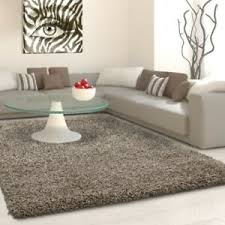 details zu fluffy shaggy rug taupe plain pile carpet small large xl living room mats