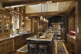Rustic Kitchen Lighting Brown Natural