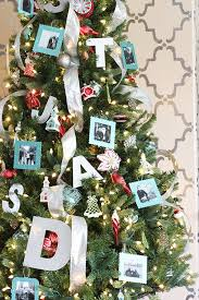 Red And Aqua Vintage Inspired Christmas Tree