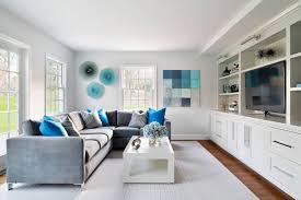 deco canapé gris decoration déco salon gris blanc bois rangements bois canapé gris