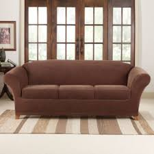 Sure Fit Sofa Slipcovers sure fit stretch piqué 3 seat individual cushion sofa covers
