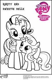 Rarity Printable Coloring Pages 3221 My Little Pony
