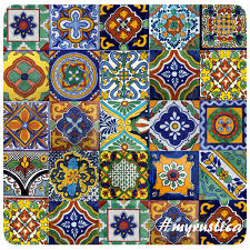 mixed mexican tiles