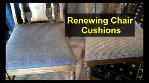 Re-cover Chair Cushions With New Material - Home Repair Series - YouTube Ding Chairs Clear Plastic Chair Cover Full Size Of Handmade Dcor Meditation Pillows At Abc Carpet Home How To Reupholster A Seat With Pictures Wikihow Cushions Throw Pillows Decor Simons Outdoor The Depot To Sew Box Cushion Super Easy Tutorial A Butterfly House 9 Best Sofa Covers In 2019 Toprated Couch Slipcovers Accsories Accent Online Turks Set Glass Top Wooden Leather Fabric John Lewis