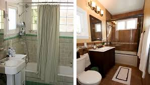 Small Bathroom Remodels Before And After Tile Color