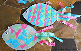 Construction Paper Fish With Tissue Scales
