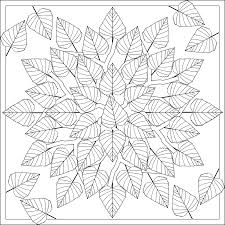 Astonishing Leaf Mandala Coloring Pages With Free And For