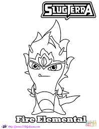 Fire Elemental Coloring Page | Free Printable Coloring Pages