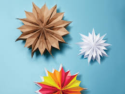 Decorative Stars Made From Paper Bags