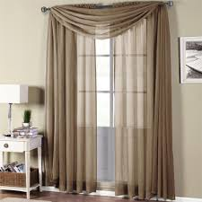 Crushed Voile Curtains Grommet 276 835 egyptian linens 276 835 mocha abri grommet crushed sheer