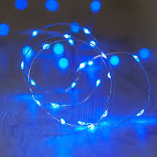 blue lights qualizzi starry and string lights