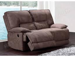 canapé relax 2 places électrique canapé tissu ub design eros 2 places 2 relax électriques marron pas