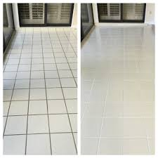 before and after grout plus clean and color seal grout plus