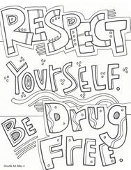 Respect Yourself Be Drug Free Coloring Page