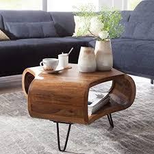 kadima design couchtisch sheesham massiv holz ablage metallgestell retro wohnzimmertisch rechteckig massivholz braun sofatisch mordern holztisch tisch