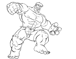 Hulk Coloring Page Pages Kids