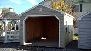 Amish Mikes Sheds by Vinyl Prefabricated Garages 12x16 Prefab Garage Amish Garages