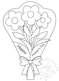 Flowers Bouquet Coloring Pages Mothers Day