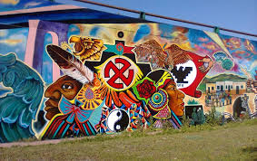 hundreds rally in chicano park to defend murals red rose mafia