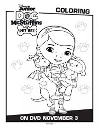 Doc McStuffins Pet Vet Coloring Pages
