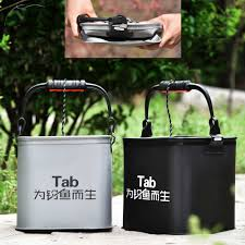 5l 7l 10l 13l verdicken outdoor faltbare angeln eimer auto waschen badezimmer live fisch tank cing angeln ausrüstung werkzeuge