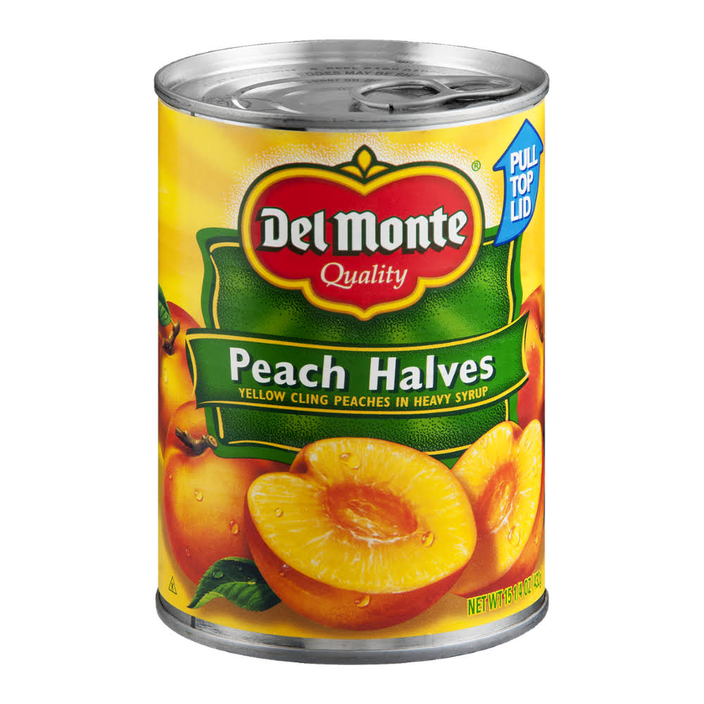 Del Monte California Halves Yellow Cling in Heavy Syrup Peaches - 15.25oz