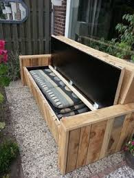 built in bench with storage patio furniture and outdoor